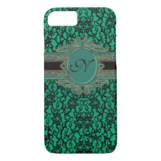 Spitze-Gewohnheits-Monogramm Kelly grünes irisches iPhone 8/7 Hülle
