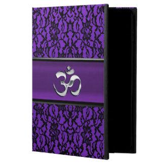 Spitze-iPad Airs 2 Silber OM lila schwarzer Kasten