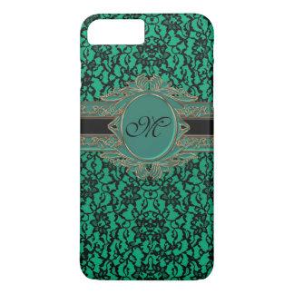 Spitze-Monogramm iPhone 7 Kelly grüne irische iPhone 8 Plus/7 Plus Hülle