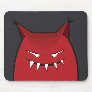 Spitze Ohr-rotes schlechtes Monster Mousepad