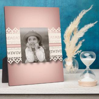 Spitze-Rosabogen Kawaii Prinzessin girly schicker Fotoplatte