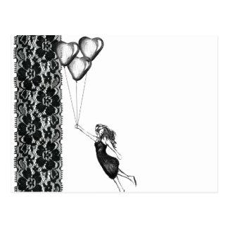 Spitze und Ballone Postkarte