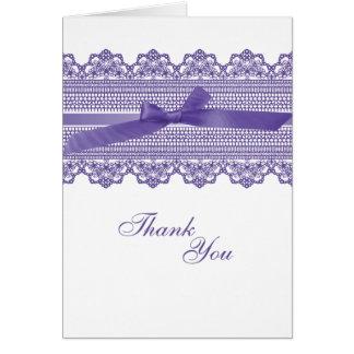 Spitze und Band danken Ihnen Karten