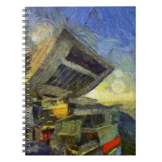 Spitze Van Gogh Hong Kong Spiral Notizblock