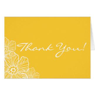 Spitzen- Blumen danken Ihnen Anmerkungs-Karte Karte