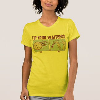 Spitzen Sie Ihre Kellnerin T-Shirt