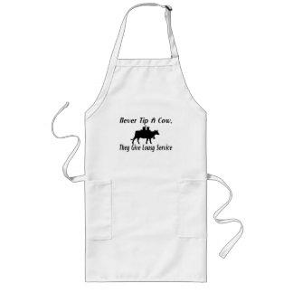 Spitzen Sie nie eine Kuh Lange Schürze