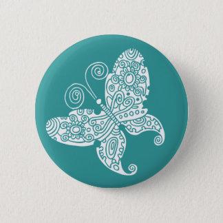 Spitzen- weißer Schmetterling Runder Button 5,1 Cm