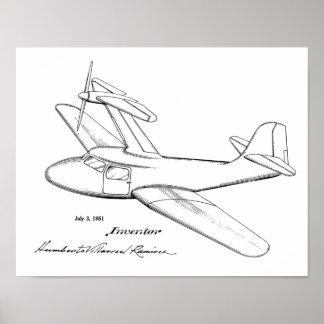 Spitzenflugzeug-Patent-Kunst der stütze-1951, die Poster