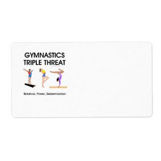 SPITZENgymnastik-Dreiergruppen-Drohung