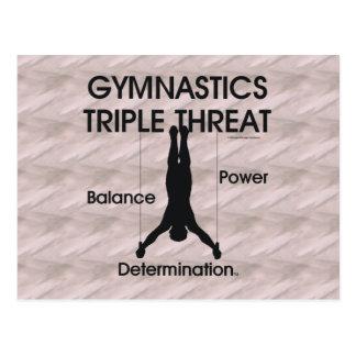 SPITZENgymnastik-Dreiergruppen-Drohung (Männer) Postkarte