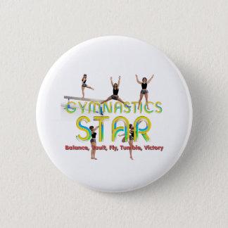 SPITZENgymnastik-Stern Runder Button 5,7 Cm
