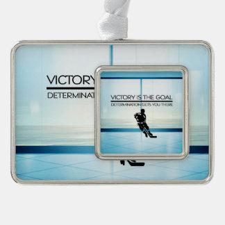 SPITZENHockey-Sieg-Slogan Rahmen-Ornament Silber