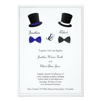Spitzenhut-und Bogen-Krawatten-blaue homosexuelle Karte
