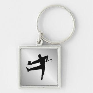 Spitzenhut und Stock stechen Tänzer an Schlüsselanhänger