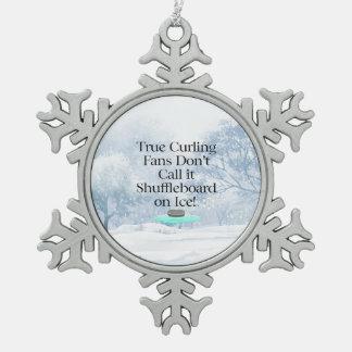 SPITZENkräuselnslogan Schneeflocken Zinn-Ornament