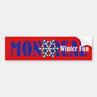 SPITZENmontreal-Winter-Spaß Autoaufkleber
