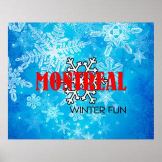 SPITZENmontreal-Winter-Spaß Poster