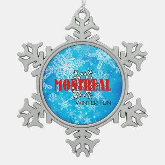 SPITZENmontreal-Winter-Spaß Schneeflocken Zinn-Ornament