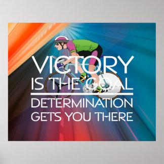 SPITZENradfahrensieg-Slogan Plakat