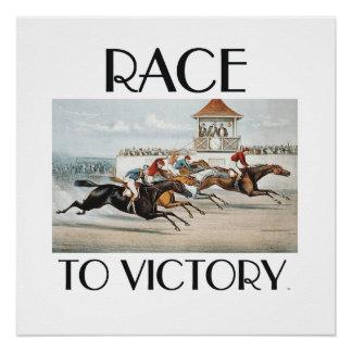 SPITZENrennen zum Sieg Poster
