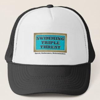 SPITZENschwimmen-Dreiergruppen-Drohung Truckerkappe