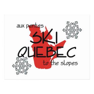 SPITZENski Quebec Postkarte