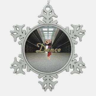 SPITZENtanz Schneeflocken Zinn-Ornament