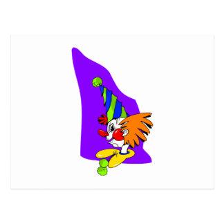 Spitzer Hut-Clown Postkarte