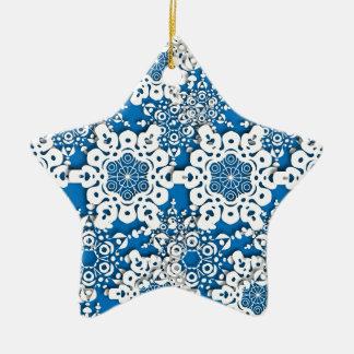 Spitzeschneeflocke 4 keramik Stern-Ornament