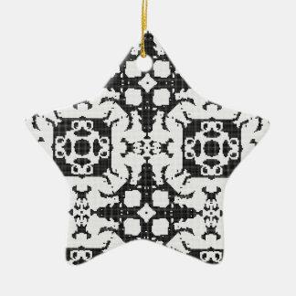 Spitzevorhangbeschaffenheit Keramik Stern-Ornament