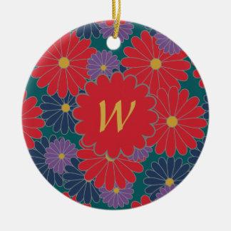 Splashy Fall-Blumenverzierung Keramik Ornament