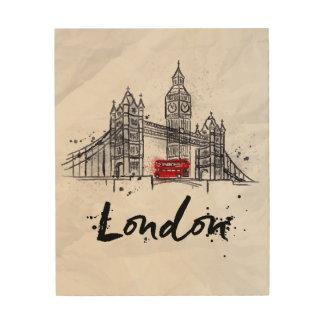 Splashy Grafik Londons, England | Holzdruck