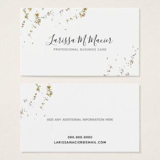splattered Glitter + handgeschriebenes Visitenkarte