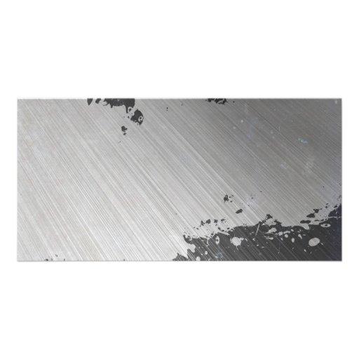 Splattered städtischer gebürsteter Stahl Bilder Karten