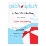 Splish Spritzen-Geburtstags-Pool-Party Einladungen