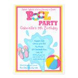 Splish Spritzen-Mädchen-Pool-Party Einladung