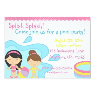 Splish Spritzen-Pool-Party Einladung