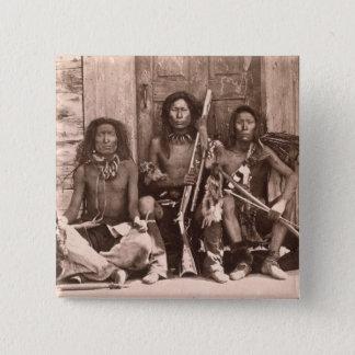 Spokane-amerikanischer Ureinwohner, 1861 (b/w Quadratischer Button 5,1 Cm