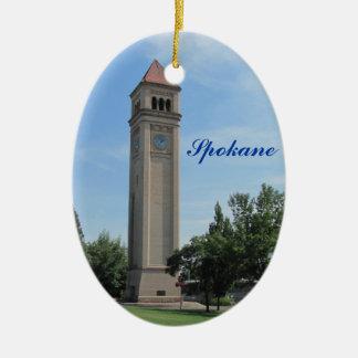 Spokane-Glockenturm-Flussufer-Park Keramik Ornament