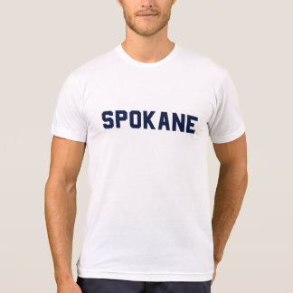 Spokane-T-Stück: Marine auf Weiß T-Shirt