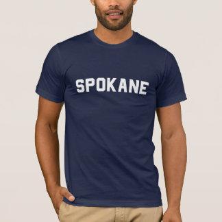 Spokane-T-Stück: Weiß auf Marine T-Shirt