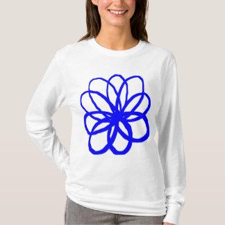 Spontane Blume - Blau T-Shirt
