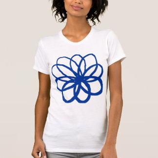 Spontane Blume - Marine-Blau T-Shirt