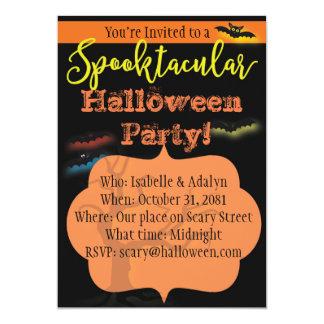 Spooktacular Halloween-Party-Einladung mit Karte