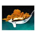 Spoonful der Getreide-und Milch-Malerei-Postkarte