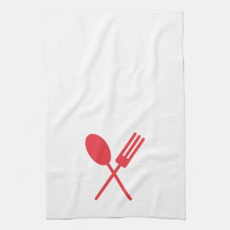 Spork Geschirrtuch-Rot Küchentuch