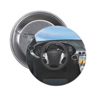 Sport-Auto-Armaturenbrett Runder Button 5,7 Cm