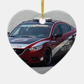 Sport-Auto-Auto-Laufen Keramik Herz-Ornament