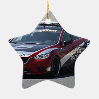 Sport-Auto-Auto-Laufen Keramik Stern-Ornament